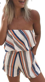 Summer Sexy Strapless Short Romper - Raen Wear