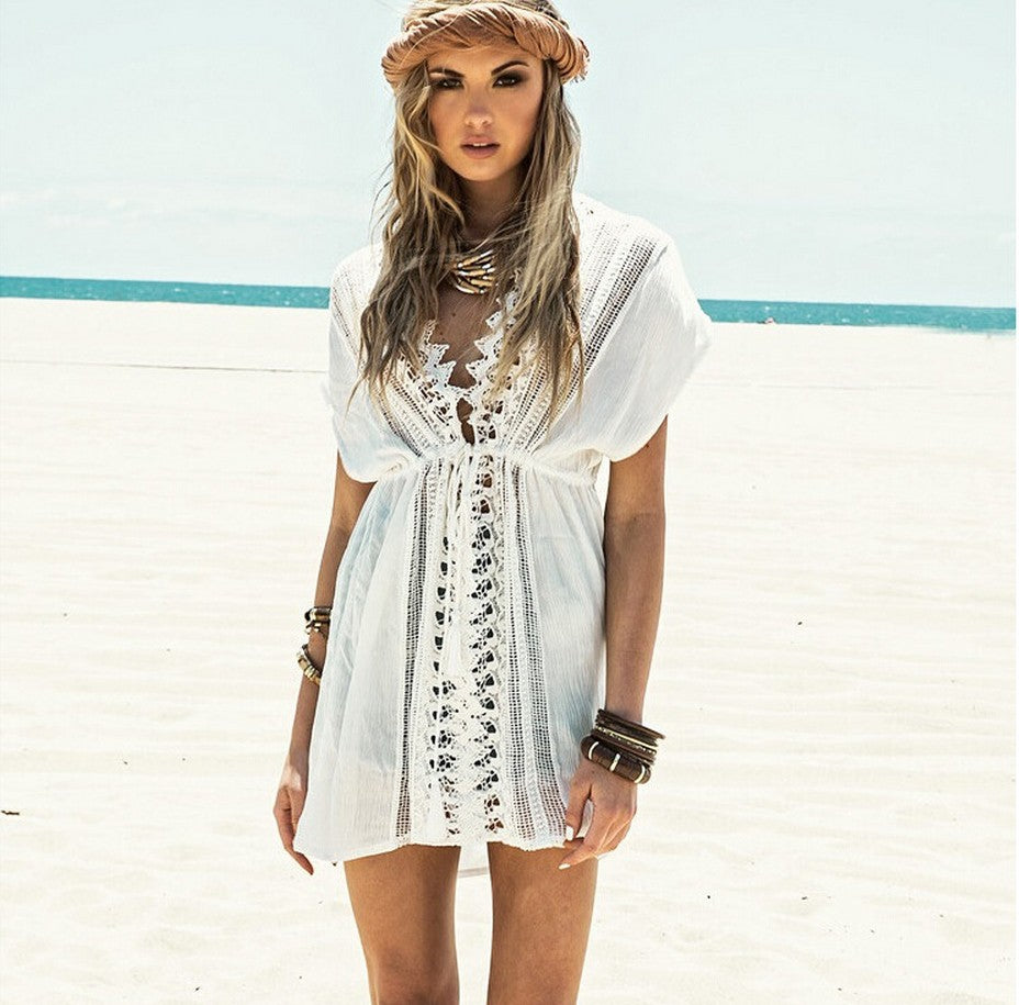White Lace Beach Cover Up - Raen Wear