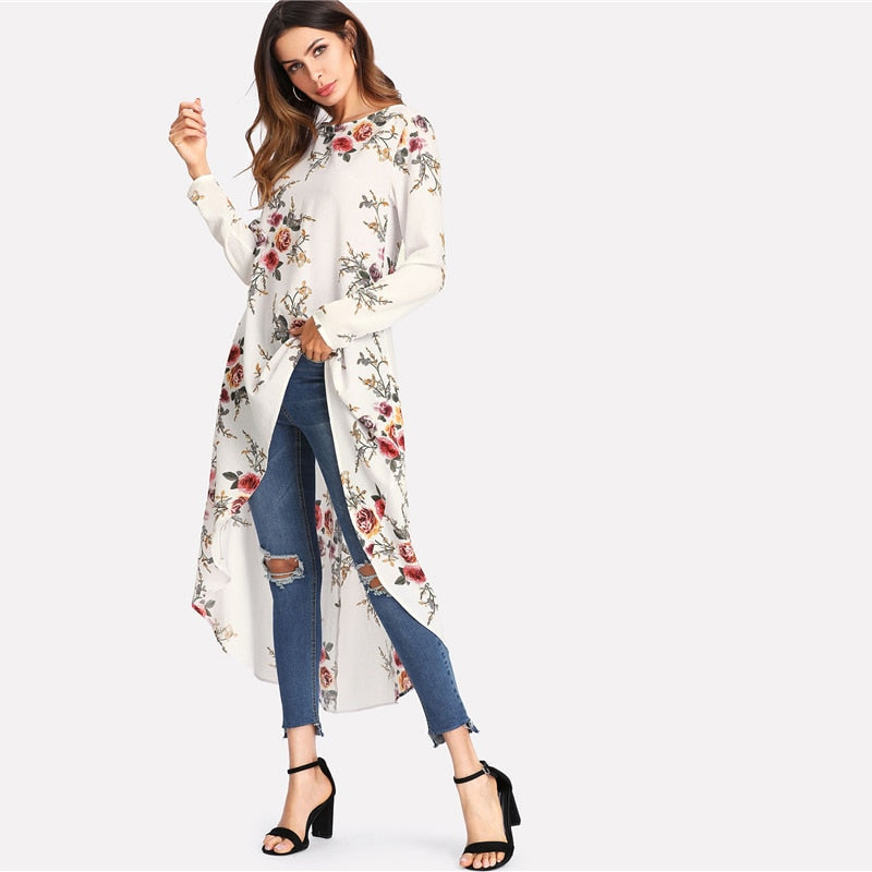 Pretty Trapeze Floral Print Top - Raen Wear