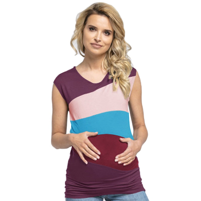 Maternity Striped Top - Raen Wear