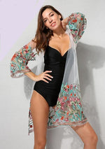 Sexy Floral Mesh Swimsuit Cover Up - Raen Wear