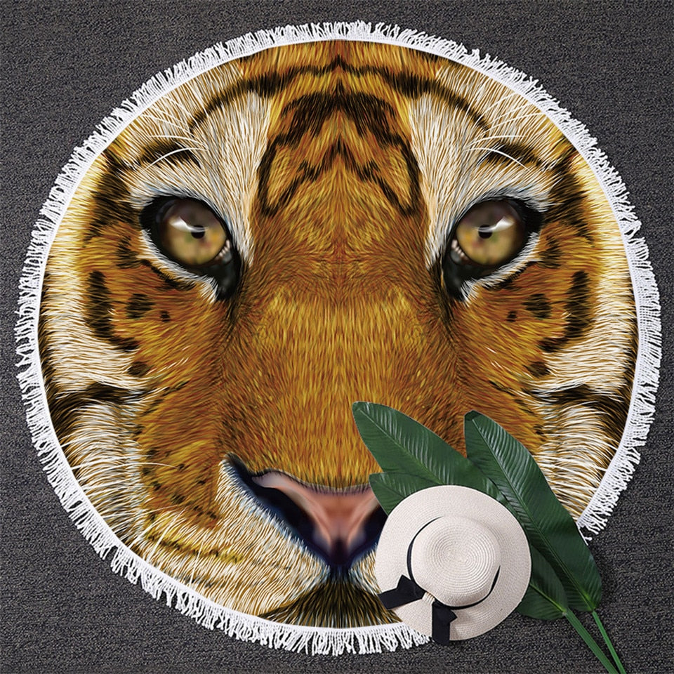Large 3D Round Beach Towel - Raen Wear