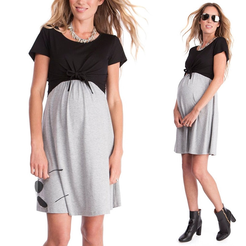 Maternity Short Sleeve Casual Dress - Raen Wear