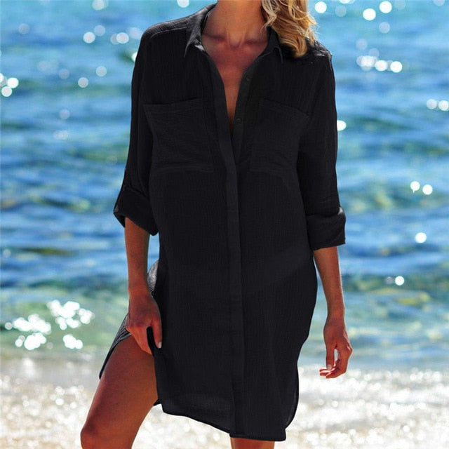 Women's Beach Shirt Cover Up - Raen Wear