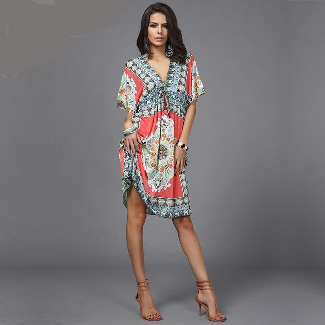 Deep V Neck Beach Cover Up - Raen Wear