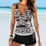 Women's Sexy Print Tankini With Boy Shorts - Raen Wear