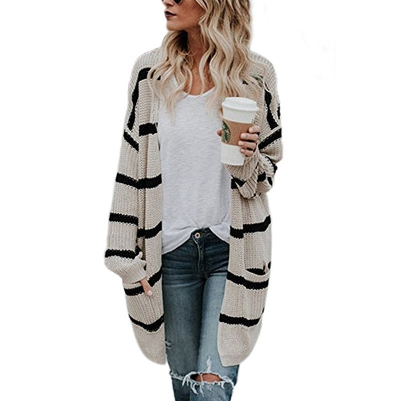 Women's Oversize Knitted Cardigan - Raen Wear