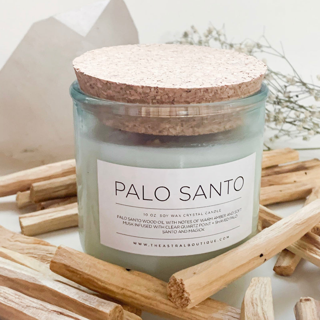 PALO SANTO CRYSTAL CANDLE - Limited Edition