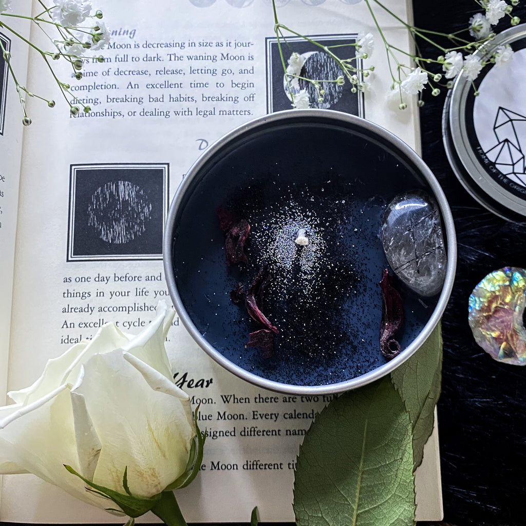 ASTRAL CANDLES - NEW MOON RITUAL CRYSTAL CANDLE