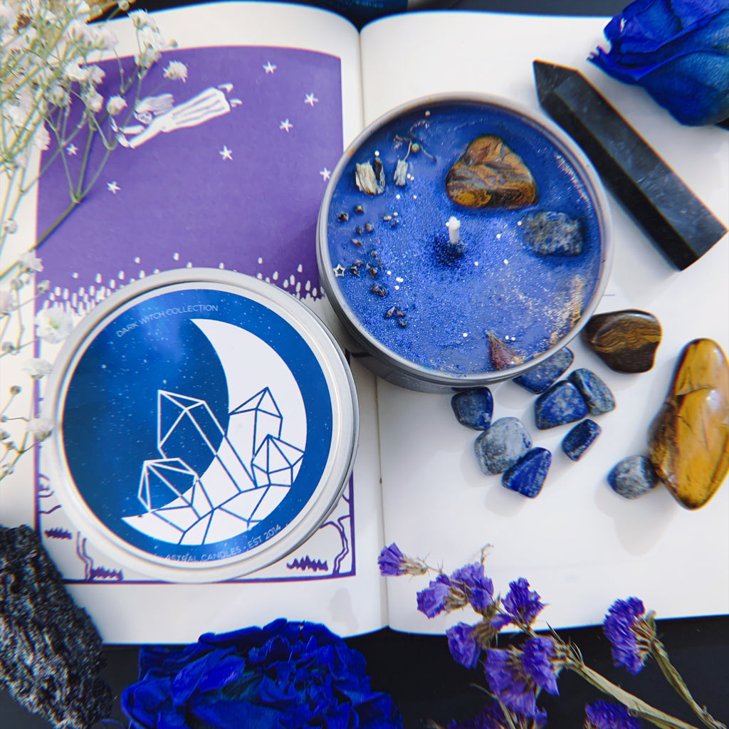 ASTRAL CANDLES - ASTRAL TRAVEL CRYSTAL CANDLE