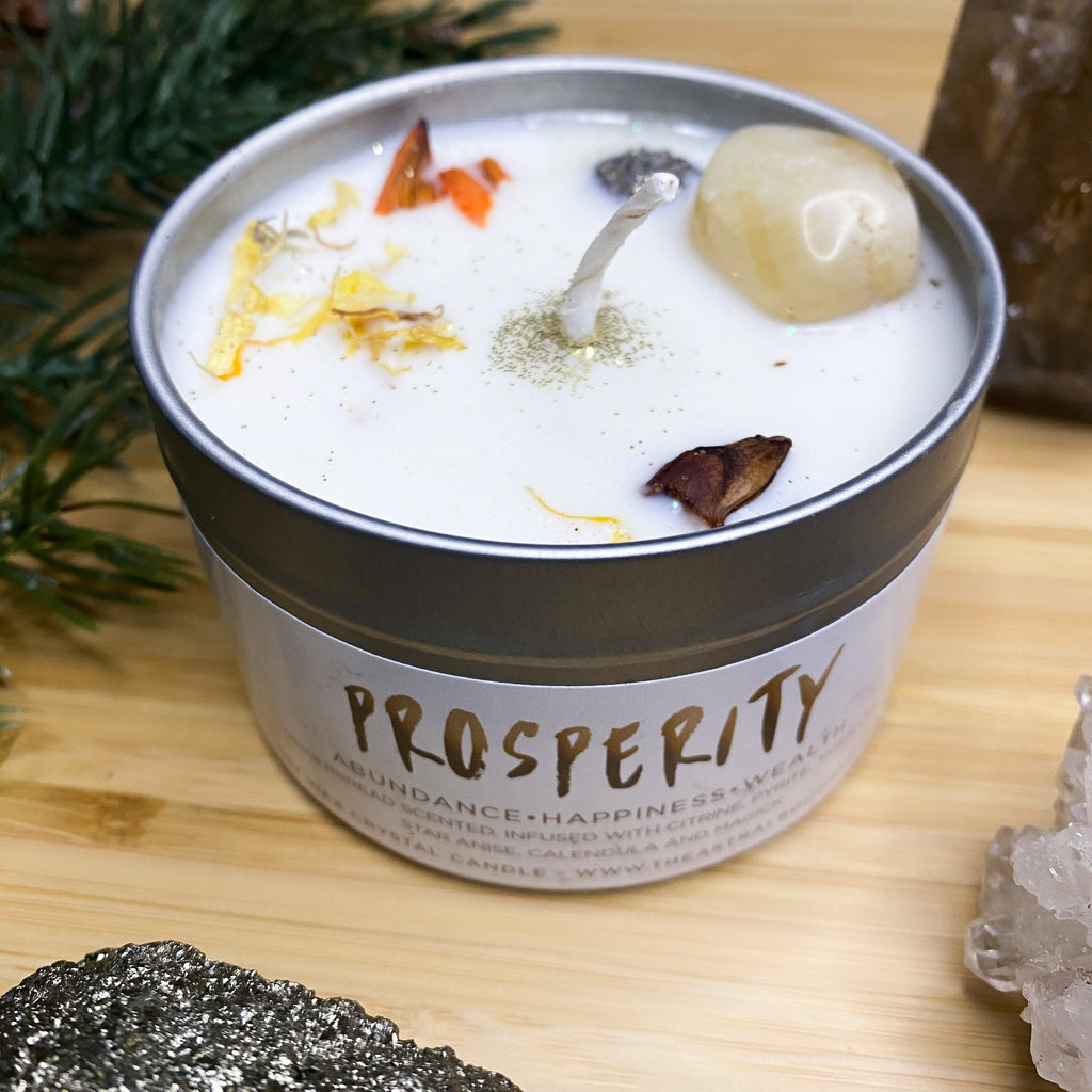 PROSPERITY CRYSTAL CANDLE