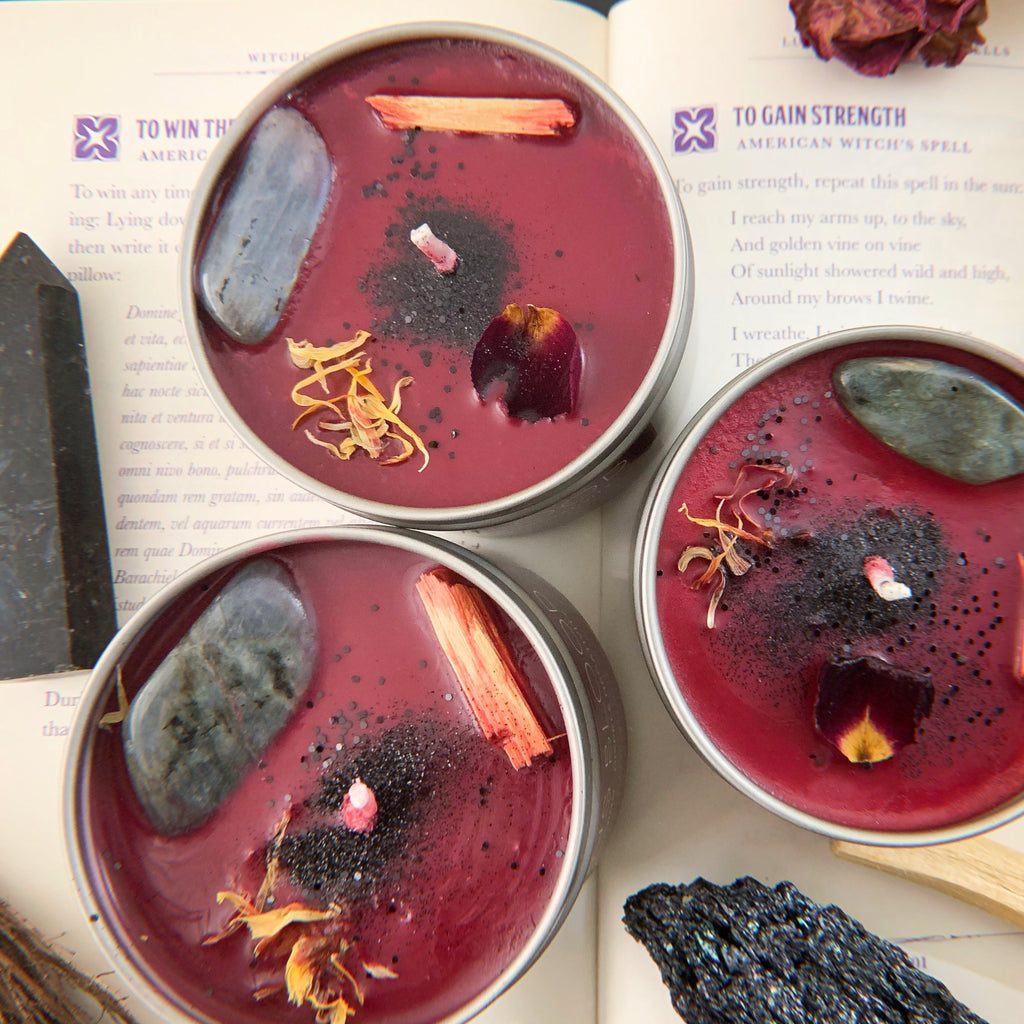 ASTRAL CANDLES - DRAGONS BLOOD CRYSTAL CANDLE