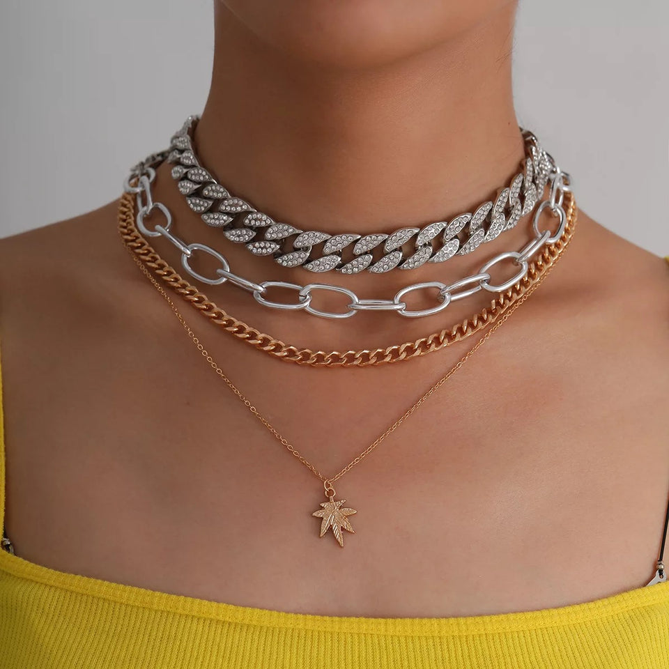 TROPICAL CUBAN CHOKER NECKLACE PRE ORDER