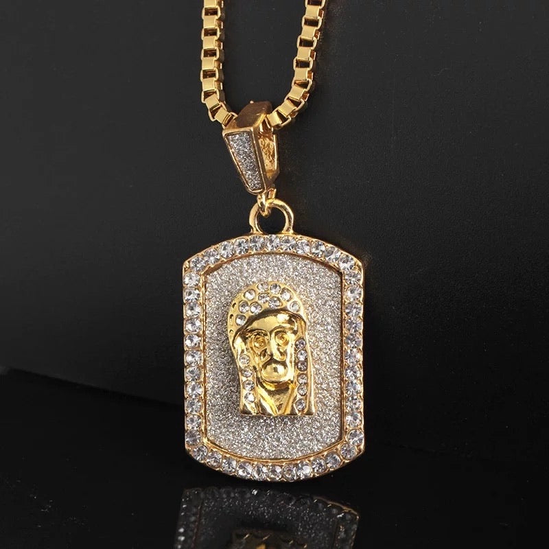 ICED OUT PORTRAIT NECKLACE