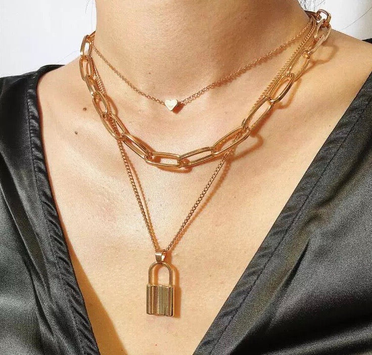 LOCK COMBO NECKLACE