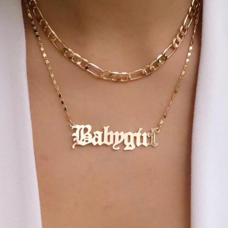 BABYGIRL LAYERED NECKLACE