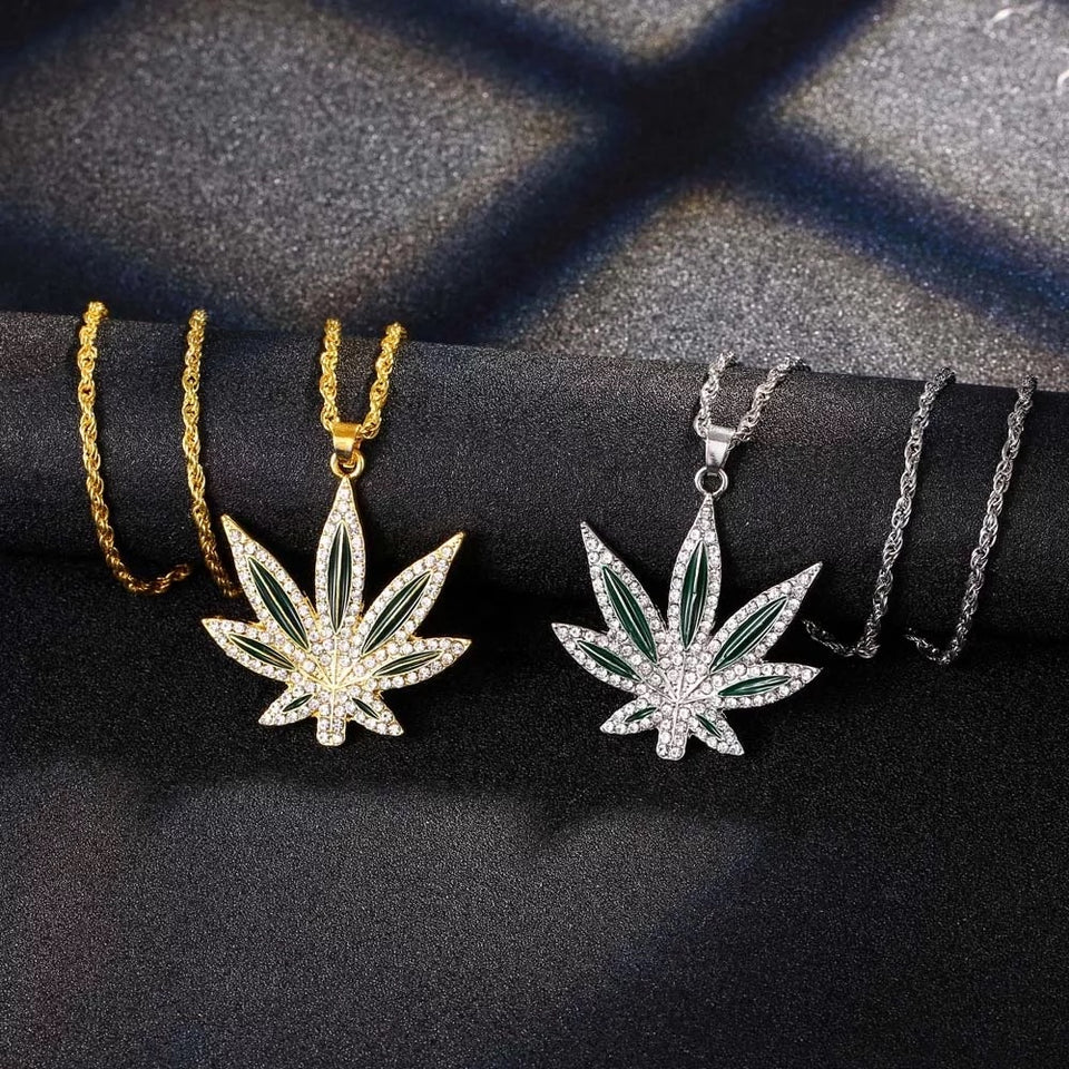 ICED OUT WEED NECKLACE