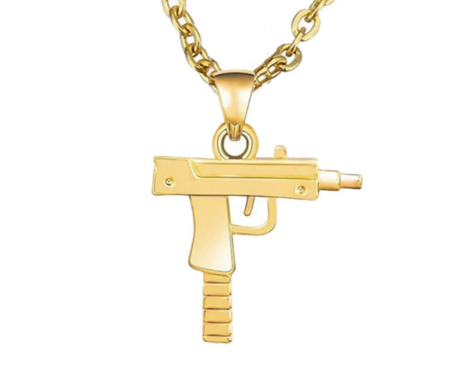 STAINLESS STEEL UZI NECKLACE