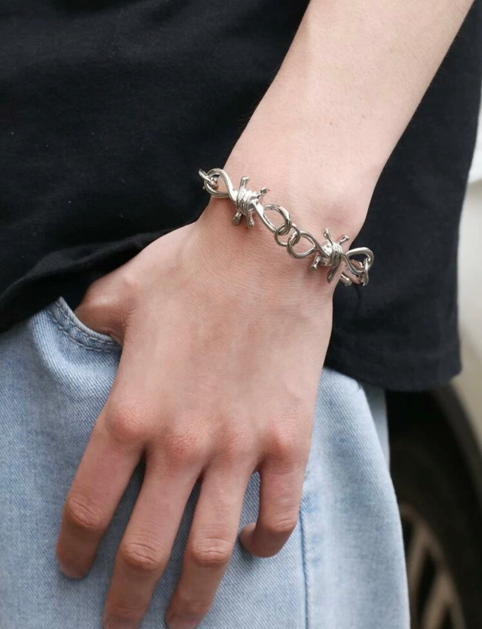 BARBED WIRE BRACELET