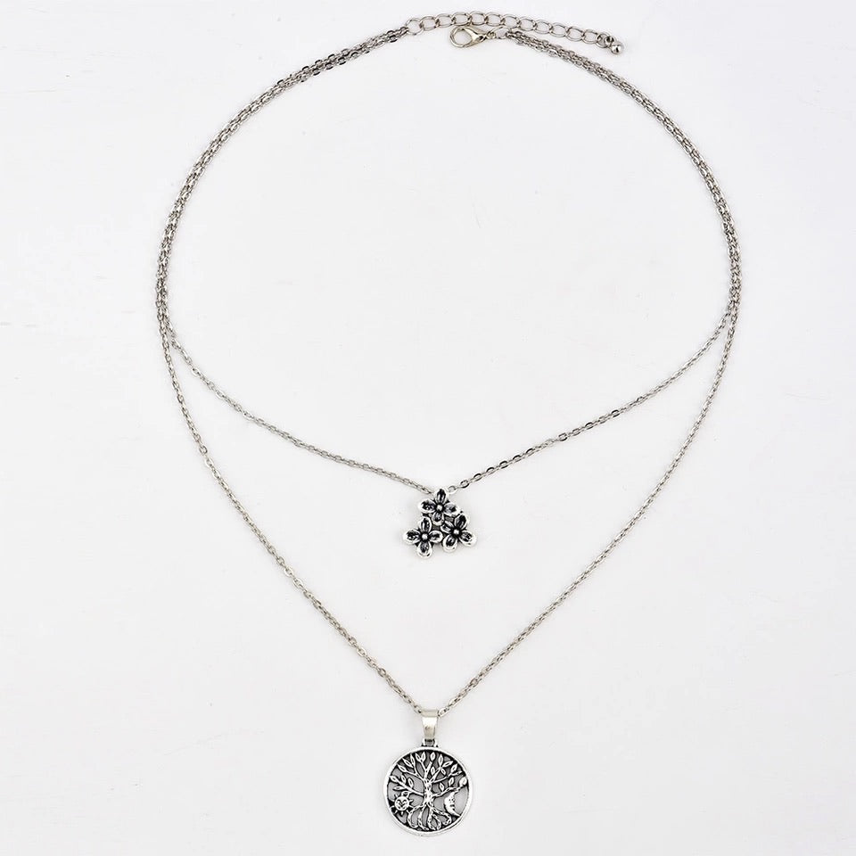 FLOWER COMBO NECKLACE