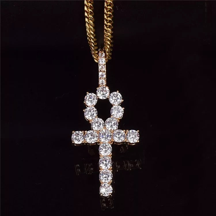 ICE CROSS NECKLACE