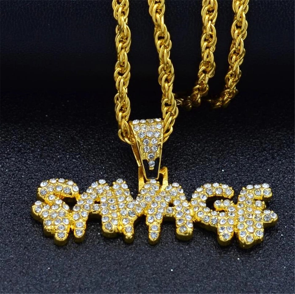 ICED OUT SAVAGE NECKLACE