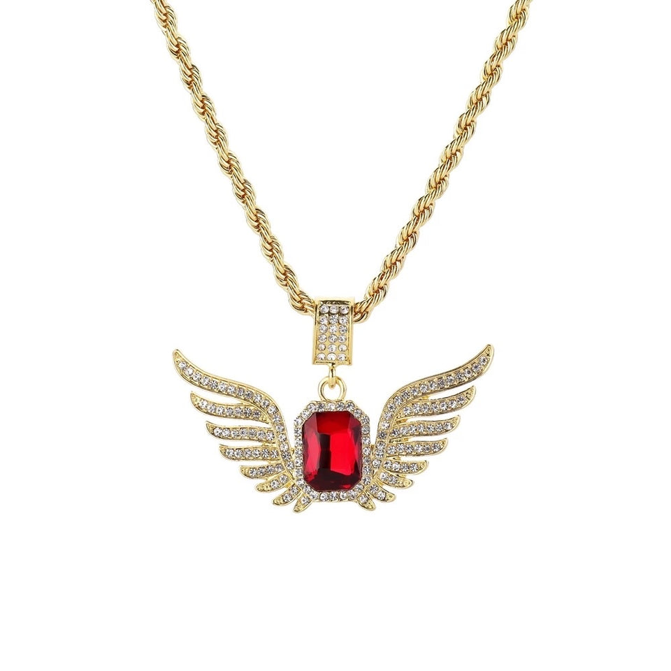 ANGEL WING ICED OUT DIAMOND