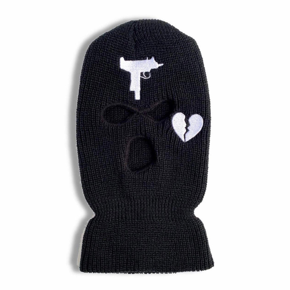 BROKEN HEART SKI MASK
