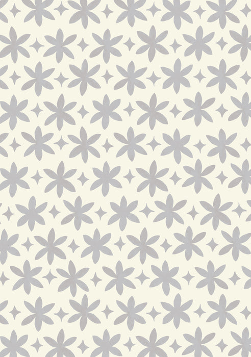 Paper Flower Wallpaper (Graphite Grey)