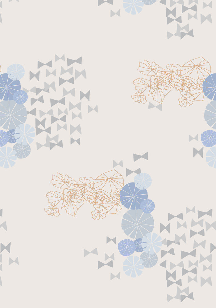 Bowties Wallpaper - Multi on Warm Neutral