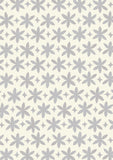 Metolius Graphite Grey Paper Flower Wallpaper Pattern