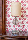 Metolius Madder Red Paper Flower Wallpaper Detail