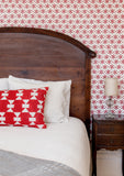 Metolius Madder Red Paper Flower Wallpaper Room