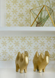 Metolius Naples Yellow Paper Flower Wallpaper Detail