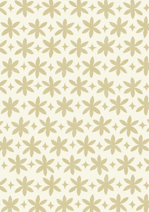 Metolius Naples Yellow Paper Flower Wallpaper Pattern