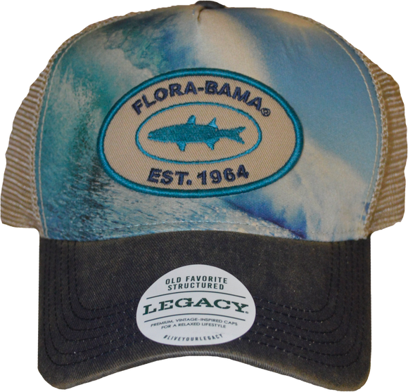 Flora-Bama Wave Patch Mesh Cap