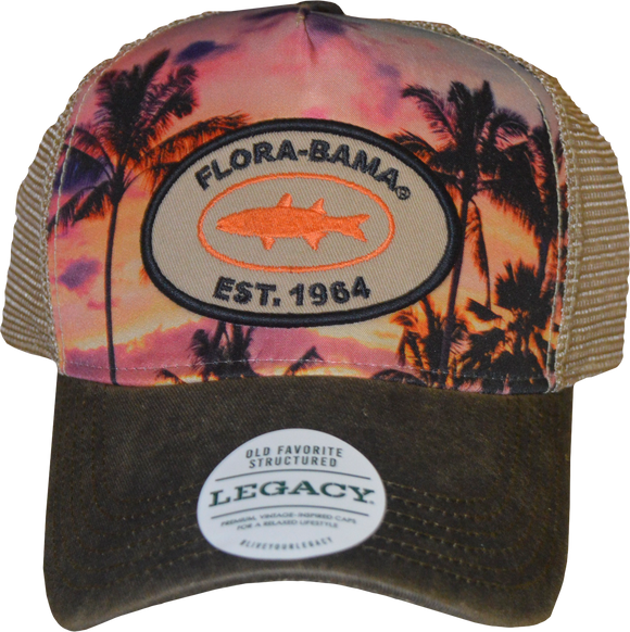 Flora-Bama Sunset Patch Mesh Cap