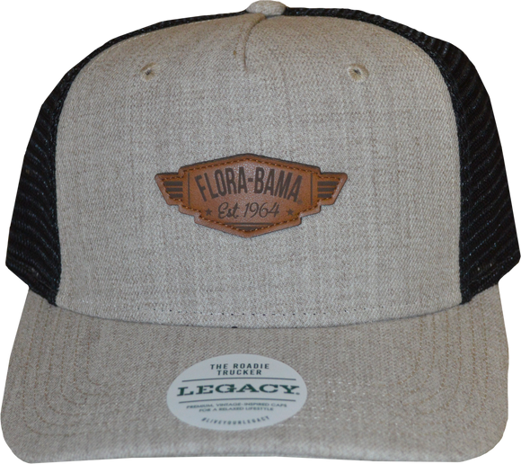 Flora-Bama Mesh Leather Patch Cap