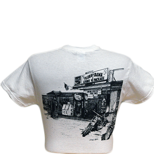 Flora Bama Old Building T Shirt-No Pocket