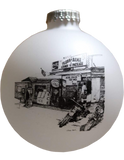 Flora-Bama Christmas Ornament in White
