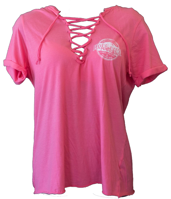 Flora-Bama Women's Lace-Up Top