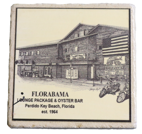 Flora-Bama Old & New Building Limestone Coasters