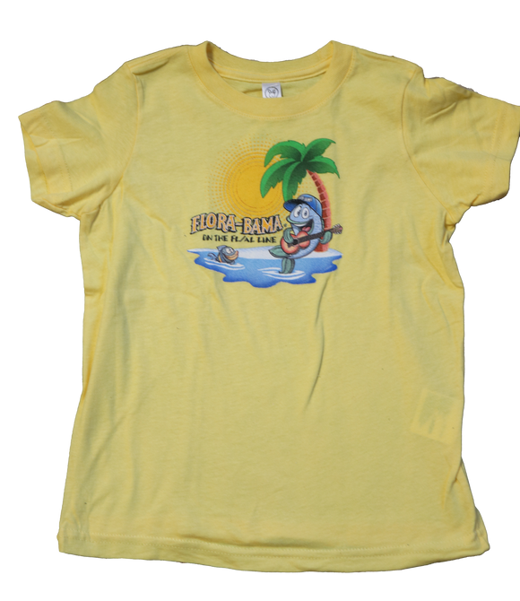 Flora-Bama Kids Kid Toddler Jammin Mullet T Shirt