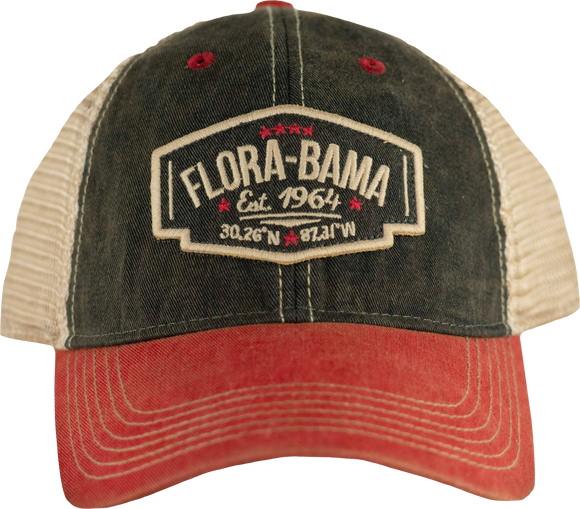 Flora-Bama Legacy Mesh Wings Cap in Red/Black
