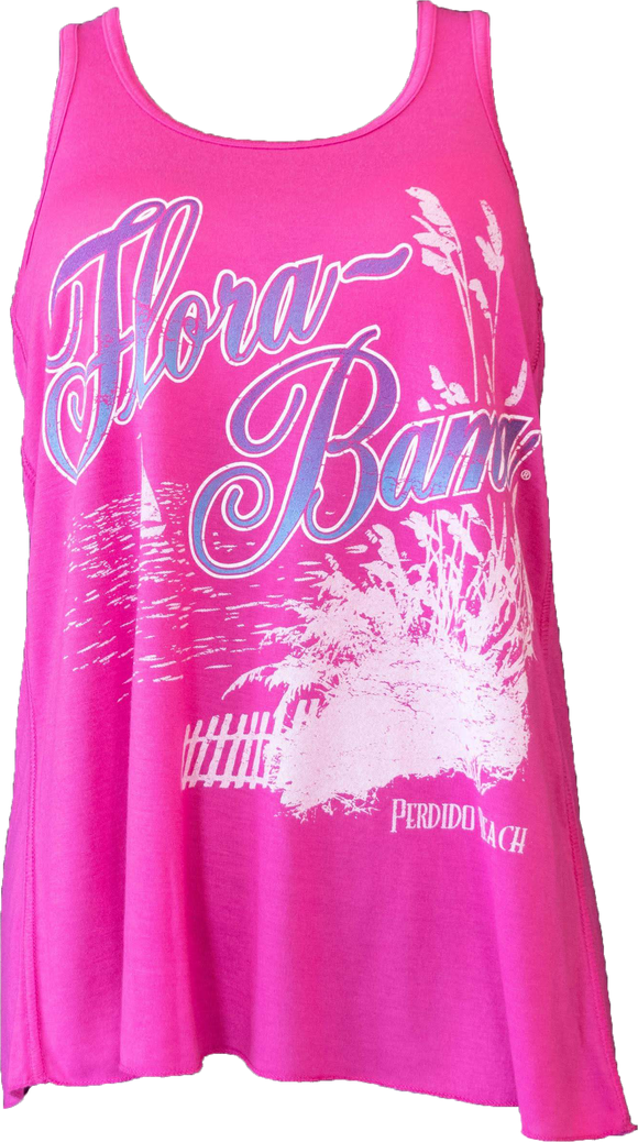 Flora-Bama Ladies Flowy Sea Oats Racerback Tank