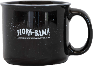 Flora-Bama Ceramic Black & Red Coffee Mugs