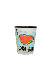 Flora-Bama I Heart Shot Glass