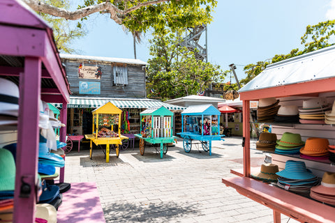 colorful carts in Key West
