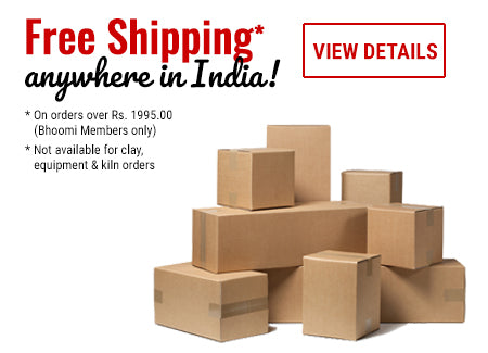 Bhoomi Pottery's Free Shipping Policy in India