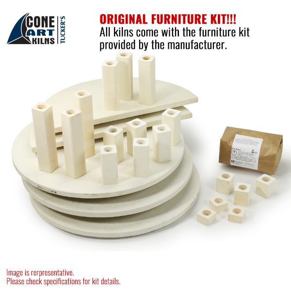 Original Furniture Kit for 2818D from Cone Art Kilns for sale in India - Bhoomi Pottery